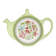 GreenGate Teebeutel-Ablage Ivy Green Vintage High Tea, Shabby Cottage, Tea Accessories, Cup And Saucer, Tea Time, Tea Pots, Fancy, Shapes, Coffee