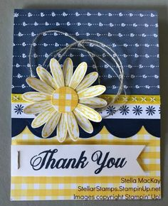 Daisy Bundle card using Stampin' Up! Daisy Delight Stampin' Up, Sewing Cards, Get Well Cards, Card Sketches, Your Cards, Cards Diy, Paper Cards, Cute Cards, Greeting Cards Handmade