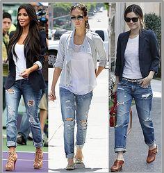 Boyfriend Levi's jeans,the ultimate street trend!
