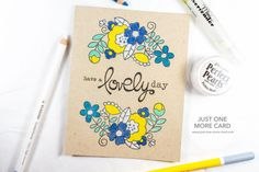 Have a Lovely Day card by Julia Altermann - Paper Smooches - Blossoming Buds