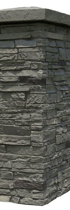 """products the most authentic """"faux"""" stone look on the market today. Porch Column Wraps, Front Porch Columns, Porch Pillars, Brick And Stone, Faux Stone, Stone Walls, Backyard Retreat, Backyard Patio, Backyard Ideas"""