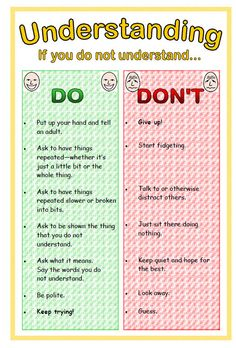 A set of two posters for children with Autism: Consideration and Understanding.