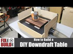 How to build a DIY Downdraft table for your shop. This sanding box will help eliminate dust while using your sander. Easy build with full video walkthrough!
