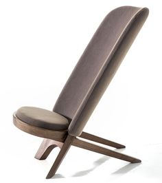 Mermelada Estudio's flatpack Jambo African Chair features a slanted, long backrest for Moroso (Milan 2016)