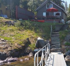 The perfect summer getaway! 1950's cabin with 100 feet of Twin lakes frontage just below the bridge. Main level bedroom and bath with loft area used as a second bedroom. Has a new dock and new metal roof within the last year. Comes fully-furnished!