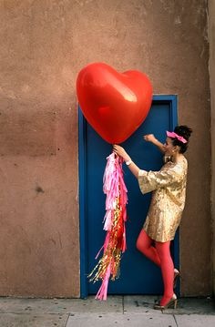Sometimes you just need a big heart ballon delivered to your door