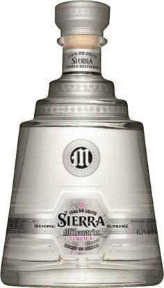 Sierra Tequila Milenario Blanco Liter % Vol. Whisky, Bourbon Whiskey, Gin, Tequila Bottles, Cocktails, Bottle Design, Bartender, Liquor, Garage Art