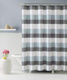 amazoncom fabric shower curtain stripe design chocolate brown beige and mocha