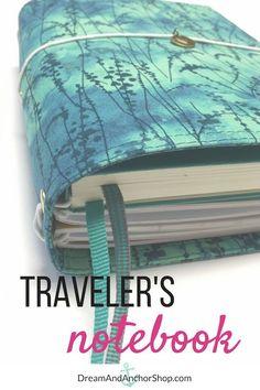 Teal Green Fauxdori Travelers Notebook - choose your size Travelers Notebook, Filofax Refills, Midori, Creative Notebooks, Bookbinding Tutorial, Diy Notebook, Travel Scrapbook, Leather Journal, Journal Covers