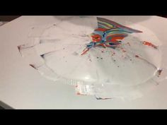 Fluid Painting Huge 36x36 Swipe Dirty Pour Spin!! You've gotta see this!! - YouTube