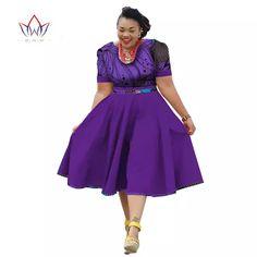 Plus Size Clothing 2018 summer Dress African Print Dress Dashiki For Women Bazin Riche Vestidos Femme Dress Plus Size BRW African Formal Dress, Short African Dresses, Latest African Fashion Dresses, African Traditional Dresses, African Print Dresses, African Print Fashion, African Attire, Sexy Dresses, Plus Size Dresses