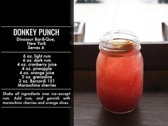 """Dinosaur BBQ's """"Donkey Punch"""" and other great summer cocktail recipes from LifestyleMirror.com"""