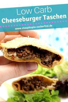 Von diesem Rezept für Low Carb Cheeseburger Taschen wirst du genauso begeistert sein wie ich!Leckere Low Carb Teigtaschen gefüllt mit Hackfleisch und Käse – ein köstliches Rezept für dein Low Carb Abendessen, bei dem garantiert nicht merken wirst, dass es aus kaum Kohlenhydraten besteht. #lowcarb #abendessen #ohnekohlenhydrate