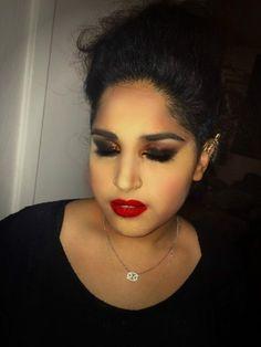 Punk rock makeup for a music video #mua #makeupartist #punkrock #punkmakeup #dark #smokey #eyes #fauxhawk #curls #darkmakeup #musicvideo #hairstyle #punkhair
