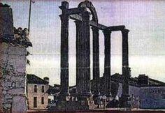 """Localización original de """"Los Mármoles"""", el templo de la ciudad romana de Augustóbriga en el pueblo de Talavera la Vieja, actualmente bajo las aguas del embalse de Valdecañas."""