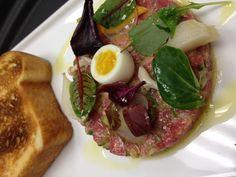 Truffled Prime Sirloin Tartare, Pickled Winter Vegetables, Soft Poached Quail Egg, Brioche Pullman