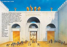 """Porta Aurea (Golden Gate), which travelers described as """"glittering with gold"""" (Constantinople) c. AD 850."""