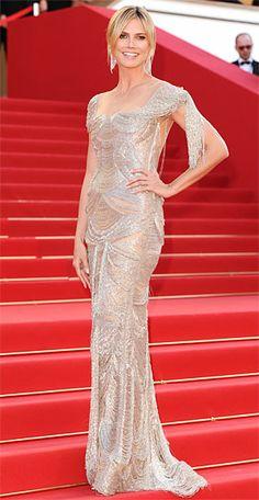 HeidiKlum in Marchesa at Cannes