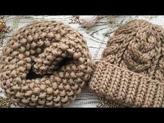 шапка из толстой пряжи/ шапка на толстых спицах / шапка из перуанской шерсти - YouTube