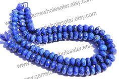 Lapis Lazuli Faceted Roundel Quality A /  36 by GemstoneWholesaler