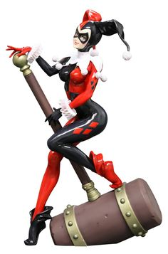 She has arrived in classic style-you can see why the Joker loved her...DC Comics Harley Quinn Bishoujo statue