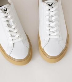 79b993bf515 Esplar Extra White + Natural Sole Leather Sneaker