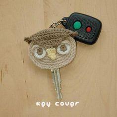Owl Key Cover Crochet Pattern Kittying pattern on Craftsy.com