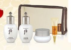 The History of Whoo - Whitening Gift Set - 4 Pieces by The History of Whoo. $56.00. Whitening Intensive Cream - 4 ml. Ja Seong Essence - 4 ml. Whitening Lotion - 20 ml. Whitening Skin Balancer - 20 ml. This four piece travel gift set comes with some of the most popular items from The History of Whoo's whitening line of products.