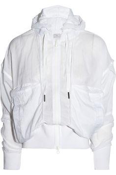 Adidas by Stella McCartney Lightweight shell hooded jacket NET-A-PORTER.COM