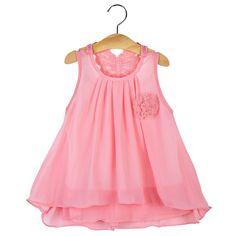 Spring/Summer Flowing Chiffon Dress Infant/Toddler
