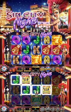 Discover Las Vegas while playing the new Sin City Nights slot by Betsoft Casino Movie, Casino Games, Play Casino, Casino Party Foods, Casino Theme Parties, Arcade Machine, Slot Machine, Game Design, Machine Image