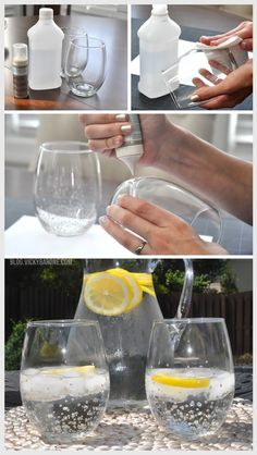 DIY Metallic Confetti Tumblers - Anthropologie tumbler knock off - Cocktail Glasses - Summer Party - Bar Cart Accessories