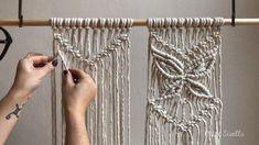 A beautiful pattern to add to any macramé project. A beautiful pattern to add to any macramé project. Macrame Wall Hanging Patterns, Macrame Plant Hangers, Macrame Bag, Macrame Patterns, How To Macrame, Art Macramé, Macrame Curtain, Macrame Design, Macrame Projects