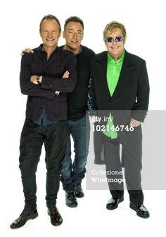 Fotografie di cronaca: *Exclusive* Sting Bruce Springsteen and Elton John…