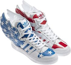 brand new fb878 0617e Adidas by Jeremy Scott - U.S Stars and Stripes Sneakers Tenis Adidas, Adidas  Sneakers,