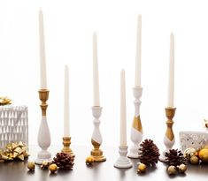 Make these chic white and gold candle holders with this step by step tutorial.