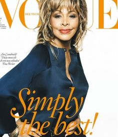 Tina Turner makes her Vogue cover debut in Giorgio Armani for the German edition of the magazine.