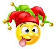 Corte Jester Emoji Emoticon Imágenes de archivo libres de regalías
