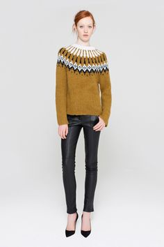 loving the resurgence of vintage-style icelandic/ nordic yoke sweaters - alc, f12 rtw
