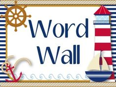 off today only! Nautical Word Wall with 220 High Frequency Words-Editable! Classroom Layout, Classroom Design, Kindergarten Classroom, Future Classroom, Classroom Themes, Classroom Organization, School Wide Themes, School Ideas, Nautical Theme