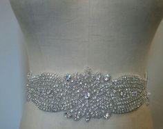 SALE - Wedding Belt, Bridal Belt, Sash Belt, Crystal Rhinestone - Style B130