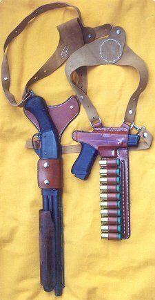 Pistol and shotgun shoulder holster