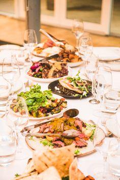 Weddings // Food // Shared plates Unique Wedding Food, Unique Weddings, Wedding Ideas, Food Plating, Christening, Homestead, Wedding Events, Food Ideas, Plates