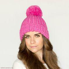 Free pattern on Ravelry Bubblegum Pompom Hat by Olivia Kent