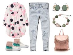 """Splash of pink"" by mahafromkailash ❤ liked on Polyvore featuring Abercrombie & Fitch, Spitfire and BUSCEMI"