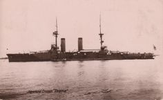 Japanese Cruiser Ikoma postcard from the Japan (Japanese) British Exhibition 1910