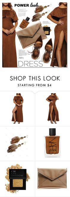 """Maxi dress"" by duma-duma ❤ liked on Polyvore featuring NARS Cosmetics, Forever 21, Rebecca Minkoff and Le Silla"