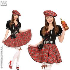 Disfraz de Escocesa corto #disfraces #sexy #carnaval