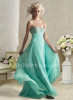 Holiday Dresses - $128.99 - Attractive Empire Sweetheart Floor-Length Chiffon  Charmeuse Holiday Dresses with Beading  Ruffle (020003246) http://jenjenhouse.com/pinterest-g3246