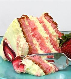 ♥♥ Strawberry Lemonade Layer Cake ♥♥